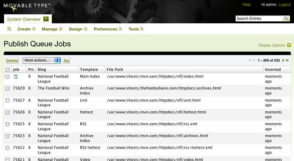 Publish Queue Manager screenshot