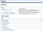 Widget Management Screen