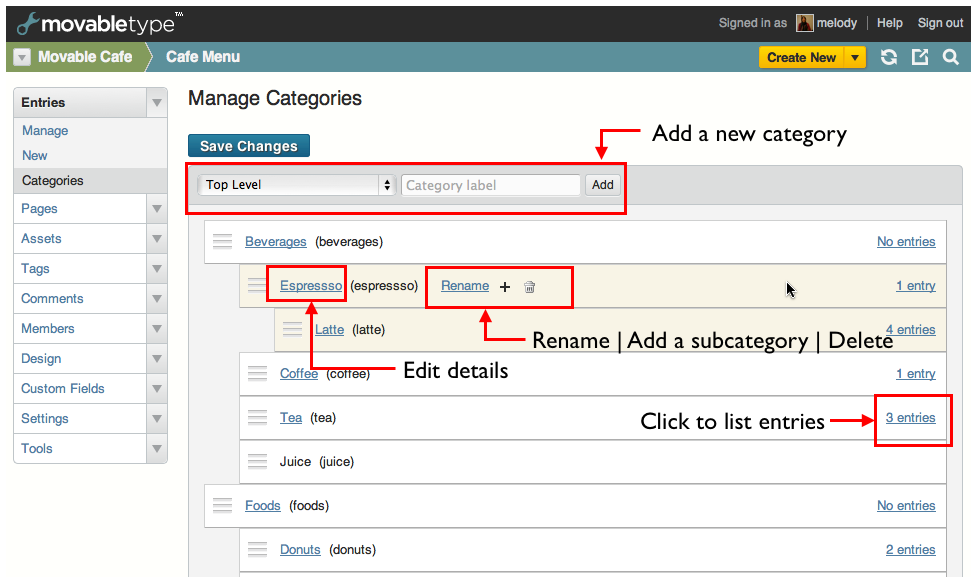 Managing Categories And Folders