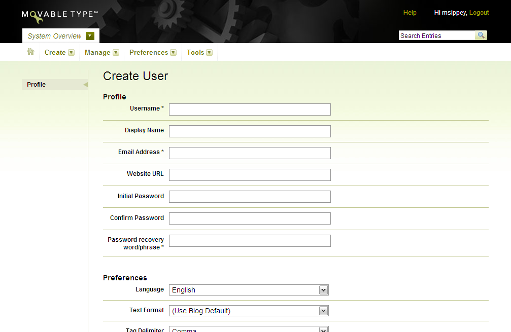 movabletype org documentation creating users user documentation template user documentation example