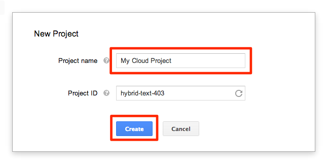 Linking to Google Analytics: 02 - New Project