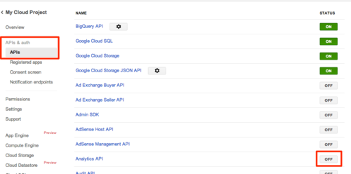 Linking to Google Analytics: 03 - Analytics API