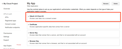 Linking to Google Analytics: 06 - OAuth Client ID