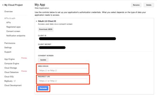 Linking to Google Analytics: 07 - Generate