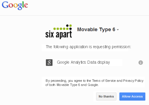 Linking to Google Analytics: 09 - Allow Access