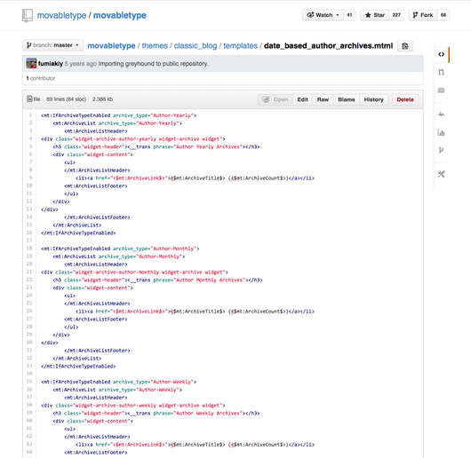 MovableType org – News: Syntax highlighting for MTML on GitHub