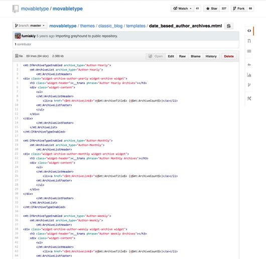 MTML syntax highlighting on GitHub