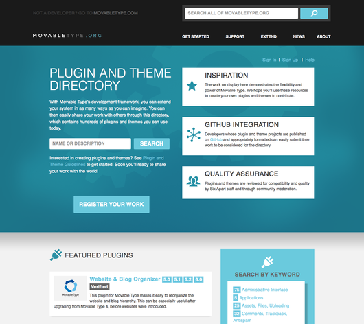 Plugin directory home page